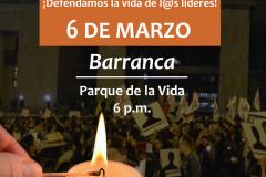 6 de marzo - Defendamos l@s líderes sociales