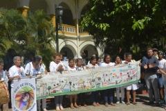 Acto simbólico de cierre de la audiencia. Universidad de Cartagena.