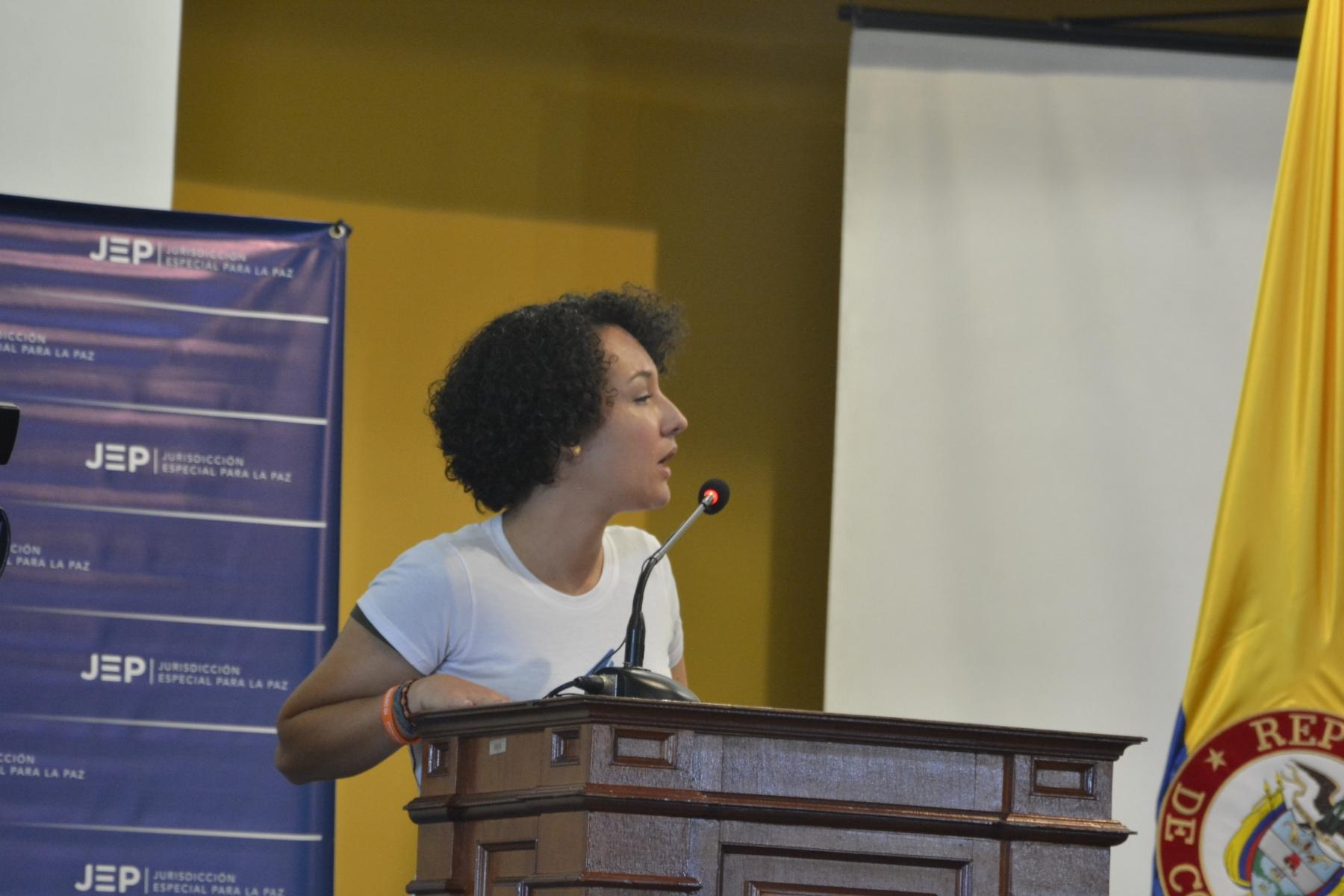 Isabel Zuleta, vocera del Movimiento Ríos Vivos.