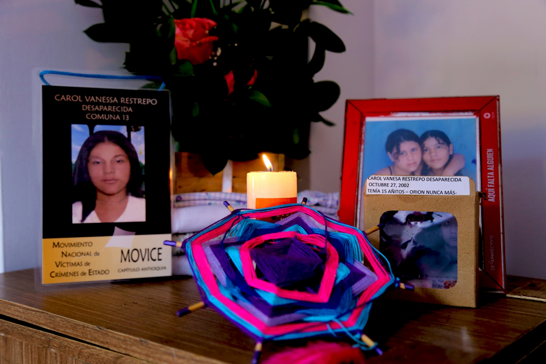 Carol Vanesa Restrepo: Desaparecida el 25 de Octubre de 2002 en la Comuna 13 de Medellín.