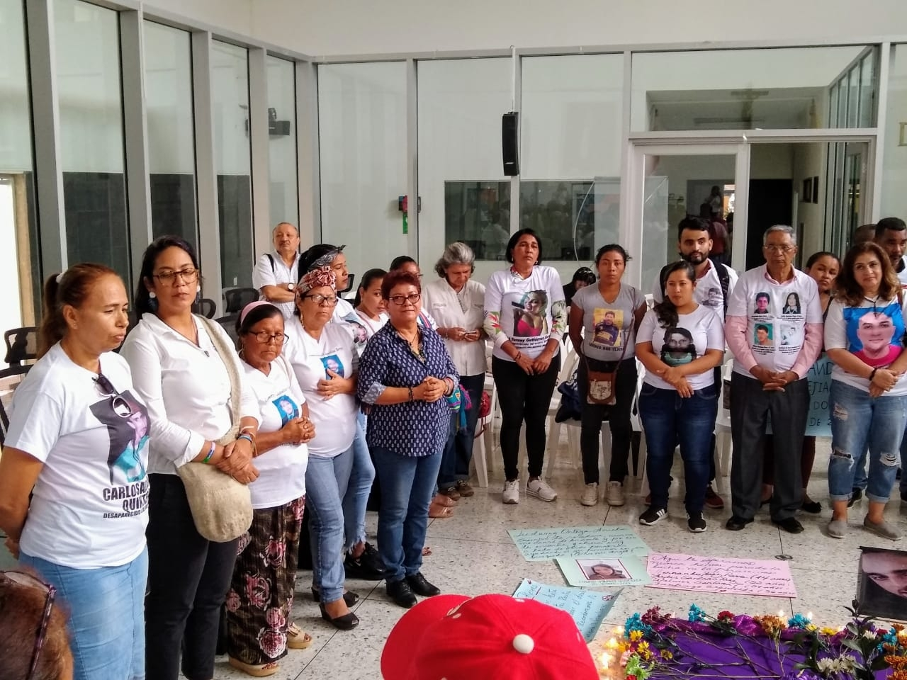 Acto simbólico 'Te seguimos buscando', Barranquilla (Atlántico)