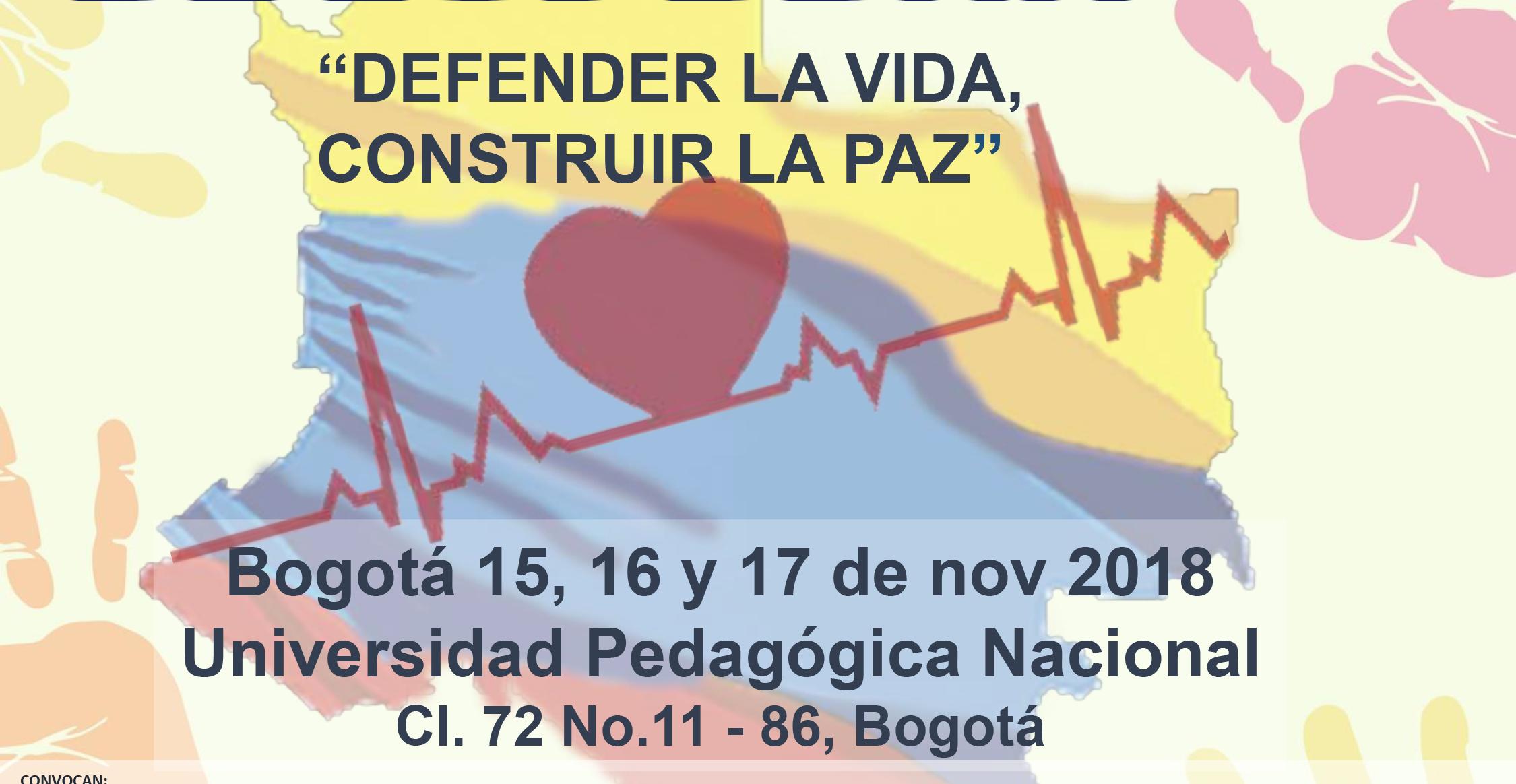 ¡Participa! XII Foro Nacional por los Derechos Humanos, defender la vida, construir la paz