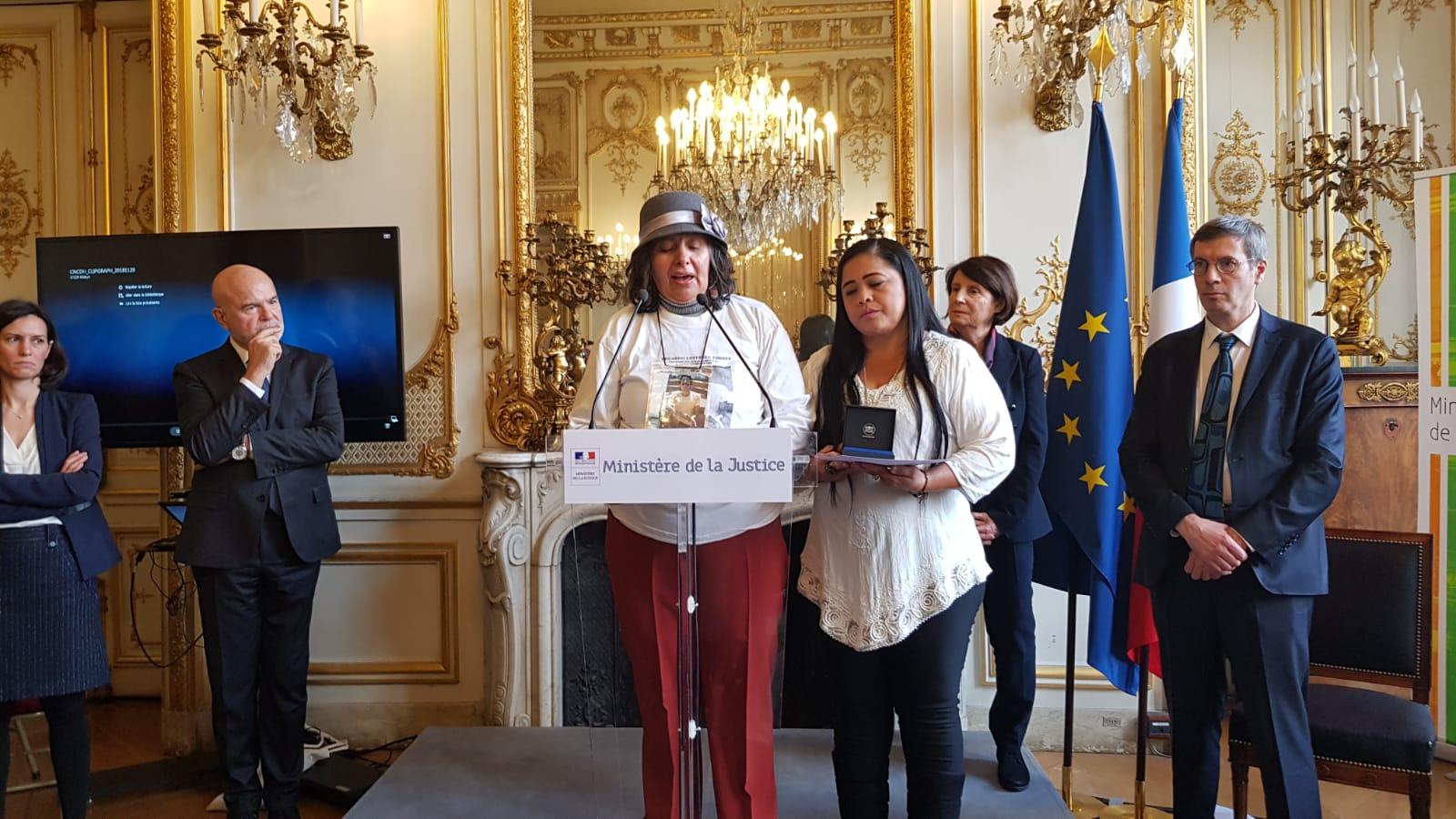 Gobierno francés entrega premio de DD.HH. al Movice