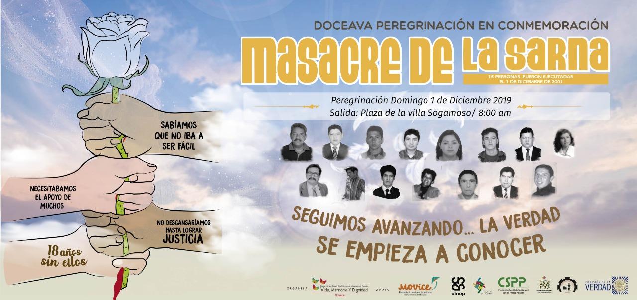 Doceava Peregrinación en homenaje a las víctimas de la Masacre Páramo de La Sarna
